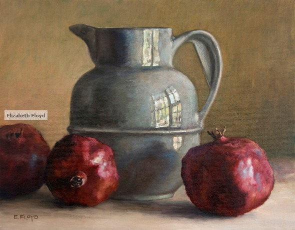 Elizabeth Floyd- Pitcher and Pomegranite